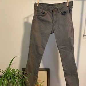 Dusty Charcoal Brown Levi's 511 Slim Jeans
